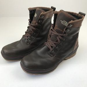The North Face Mens Brown Leather Hiking Boots